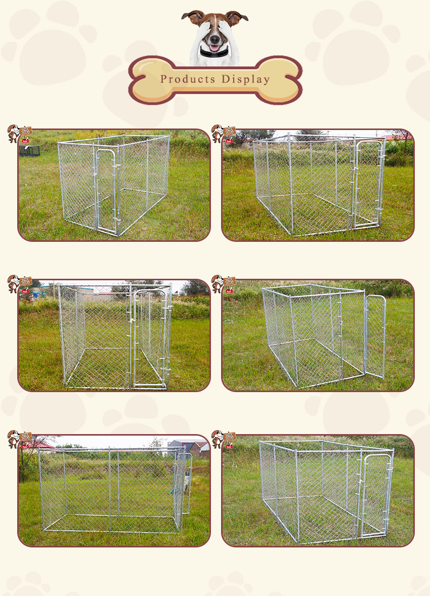 products display-Chain ling dog kennel
