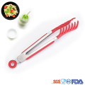 7 inch stainless steel Nylon flatware pastry tongs