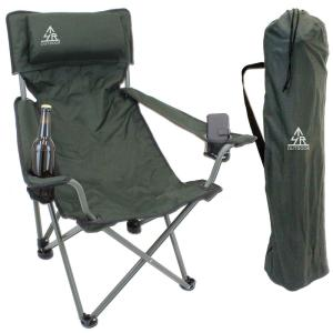 Military green FISHING chair with pilliow