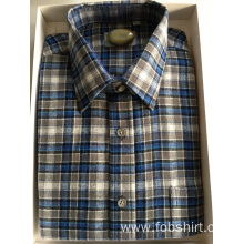 Flannel Cotton Plaid Fabric Business Shirt