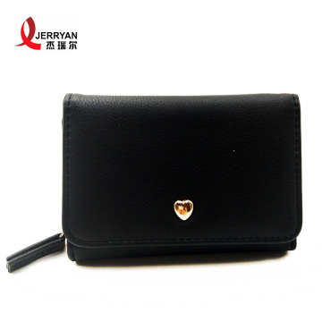 Personaliseret læder Slim Card Clutch Coin Purse