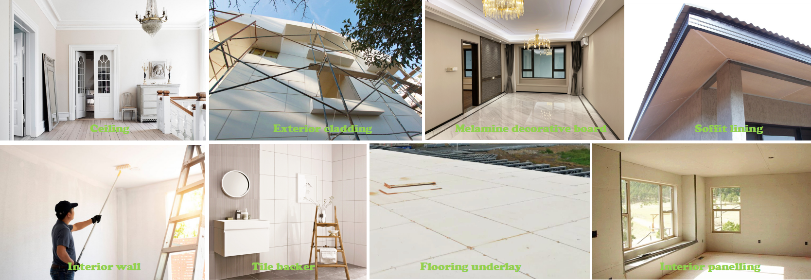 Wet Area mgo panel, Tile Backer Board,floor overlay MgO Cement Board