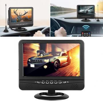 9.5 inch Wide Viewing Angle Portable TV Analog signal Mobile TV DVD Television Player Remote Controller EU Plug 100-240V