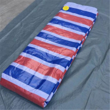 White Blue Stripe PE Tarpaulin Wholesale