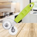 Pizza Cutter Slicer Double Rodas em PP Handle
