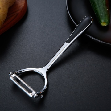 Stainless Vegetable Peeler with Non-Slip Silicone Handle