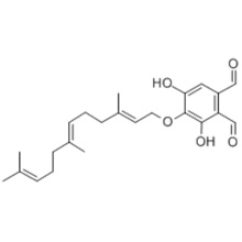 1,2-Benzenedicarboxaldehyde,3,5-dihydroxy-4-[[(2E,6E)-3,7,11-trimethyl-2,6,10-dodecatrienyl]oxy]- (9CI) CAS 14522-05-5