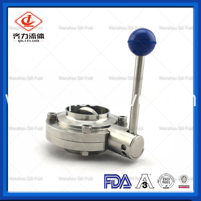 Sanitary Stainless Steel Butterfly Valve 33