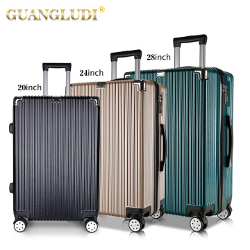 ABS 3 pieces set of luggage bag