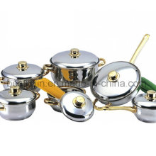 Gold Plating 12PCS Stainless Steel Kitchenware