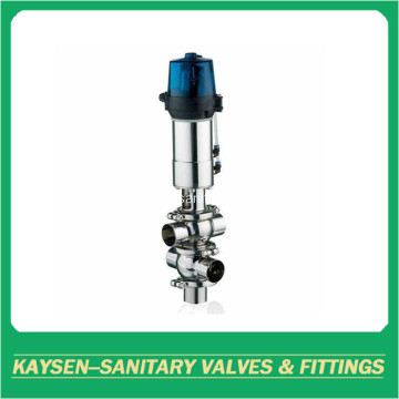 Weld Sanitary 4 ways double seat mixproof valves