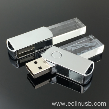 Swivel Glass USB Flash Drive