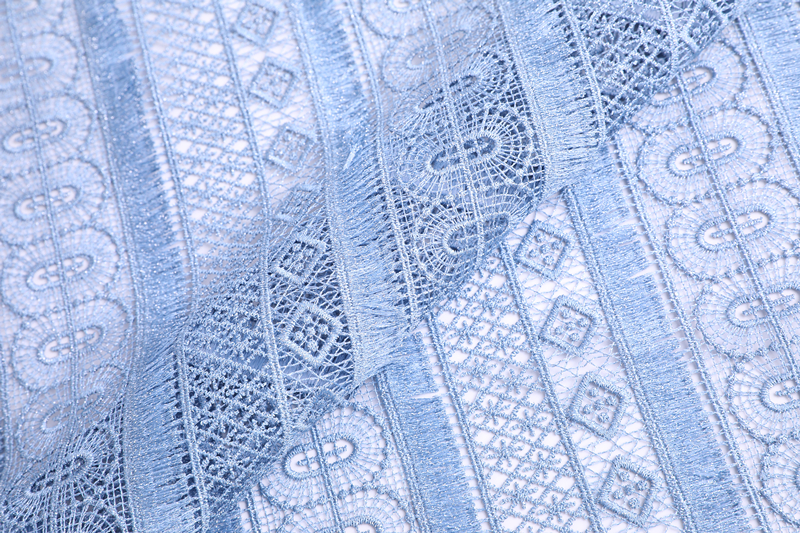 Geometry Chemical Lace Embroidery Fabric