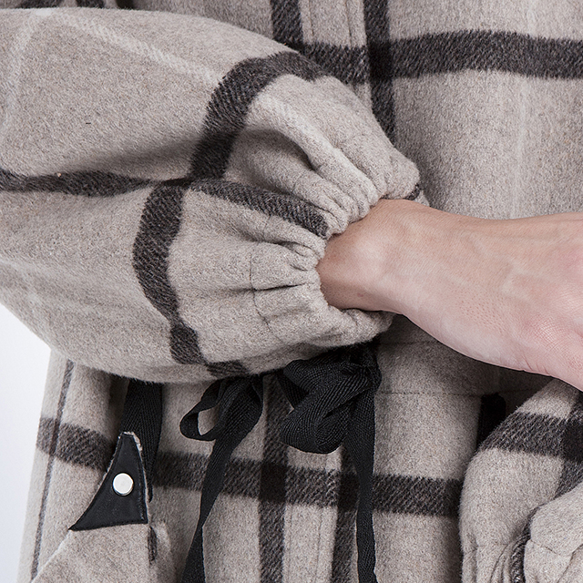 Cashmere overcoat checked fashion