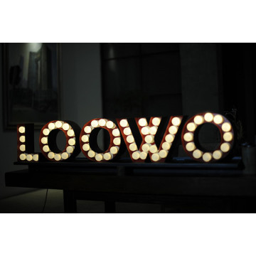 3D Alphabet Letters Lighted Marquee Letters