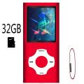 MP3 Player Mini Sport Music Player With 16GB TF Card, 1.8 Inch Screen, FM Radio, E-book, HiFi portable walkman MP 3 MP4 player
