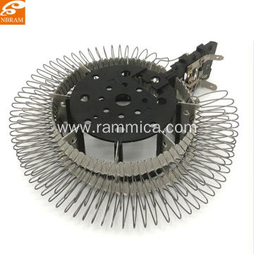 Customized Fan Heater Parts Round Wire Mica