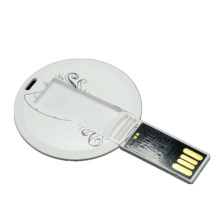 Carte ronde mince forme lecteur flash USB