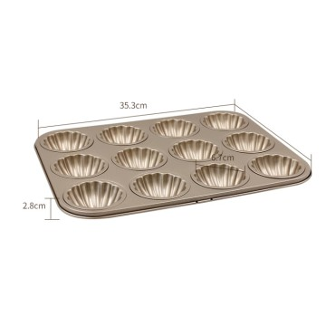 12 Cups Madeleine Shell Baking Pan