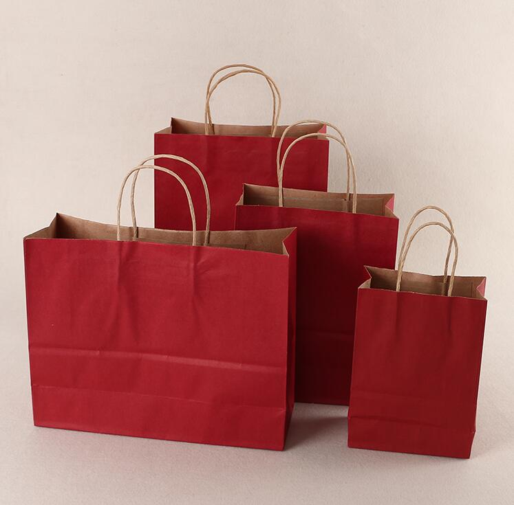 Custom Kraft Shopping Paper Bag with Handles
