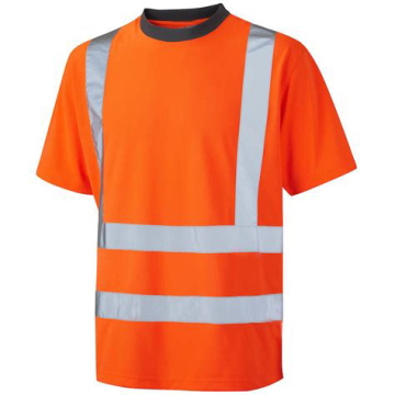 High Visibility Orange Shirt Construction Work Clothing