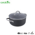 Stainless Steel Handle Hard Anodeized Casserole