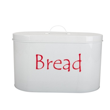 Metal Homeuse Bread Box White