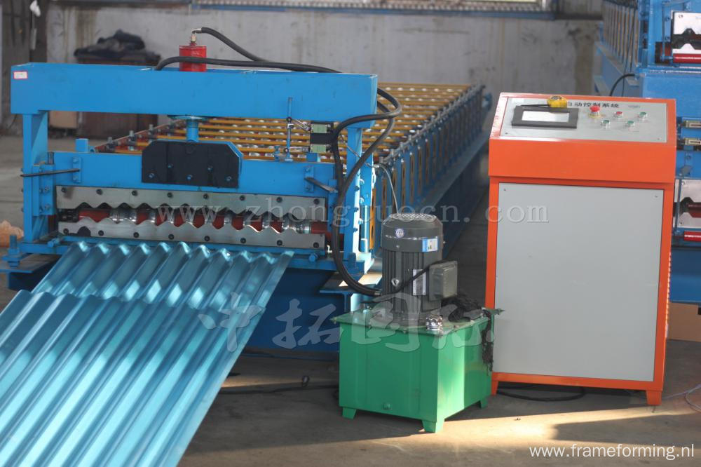 Colored Metal Panel Corrugated Sheet Roll Forming Machine