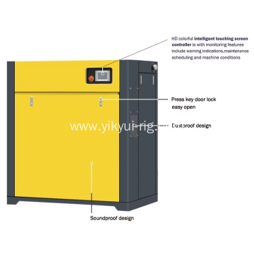 55KW industrial fixed speed air compressor
