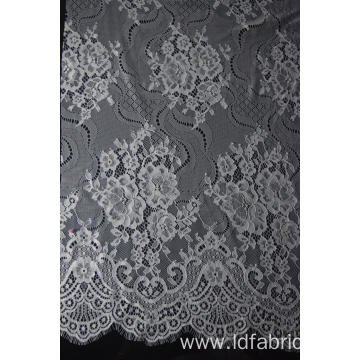 100% Nylon Panel Lace Fabric For Clothes