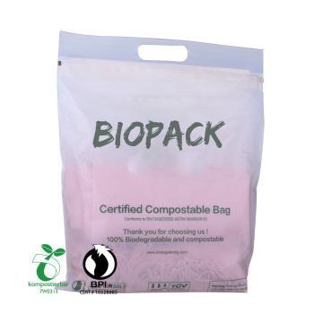 Printing Eco-Friendly Compostable Biodegradable Pla Plastic Grocery Shopping Flat Bag China Manufacturer