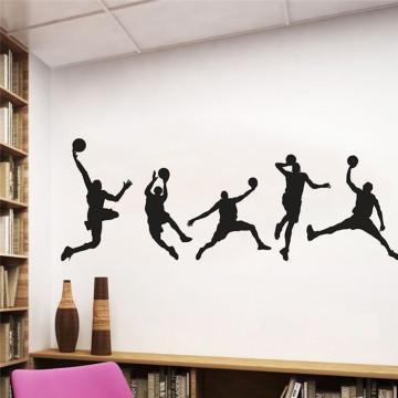 DIY Family Wallpaper 44X126CM PVC Basketball Wall Stickers for Kids Rooms Boy Bedroom Living Room Home Decor 9J07