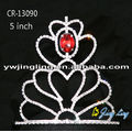 "5"" Wholesale Cheap Pageant Princess Tiaras Red Crowns"