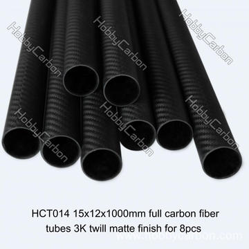 OEM Carbon Fiber Tube Customize Roll Wrapped Tube