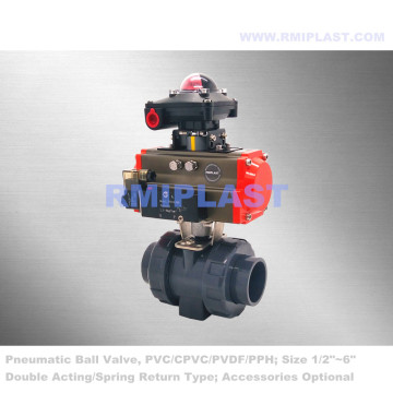 PPH Ball Valve Pneumatic Actuated PN10