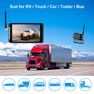 Digital Wireless Dash Camera with Rearview Camera