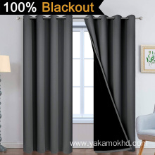 Dark Grey 100% Blackout Curtains