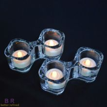 Glass Twins Tealight Holder