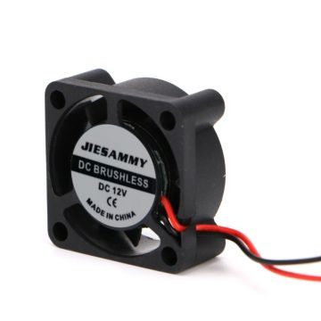 DC 12V 25*25*10mm Small 2-Wire Brushless Cooling Fan 2510S For 3D Printer Parts 95AD