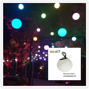DMX  full color led hanging ball garden light