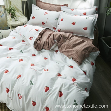 Cute Sweet Silk Cotton Printing Duvet Cover