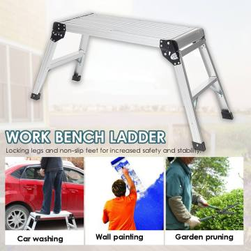 Aluminum Alloy Platform Step Up Stool Step Ladders Non-Slip Folding Work Bench Drywall Ladder Warehouse Home Construction Tools