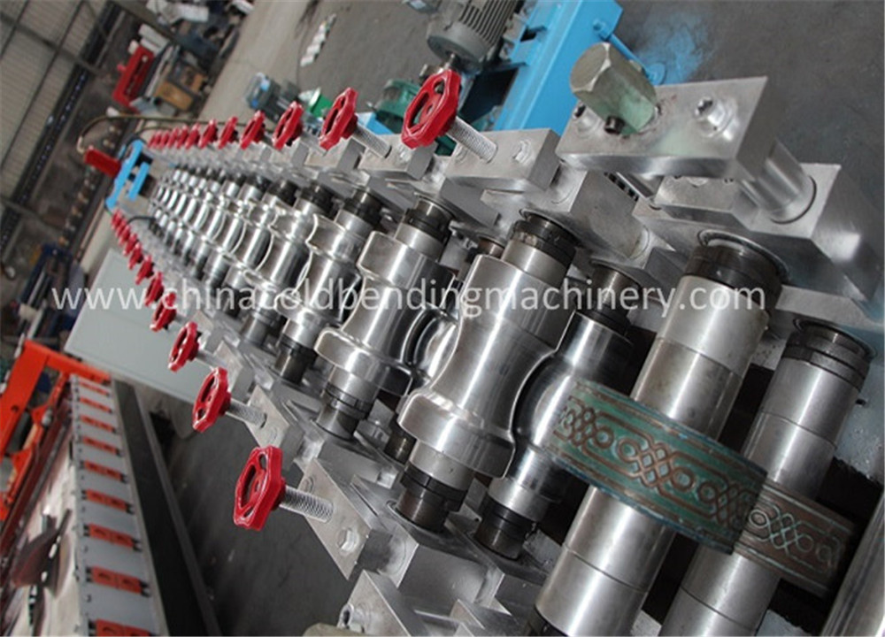 PLC control shutter door roll forming machine