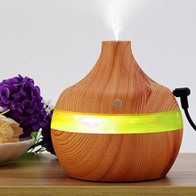 Decorative 300ml Wood Grain Cool Mist USB Humidifier