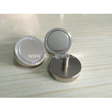 Neodymium Cup Magnets Male Thread
