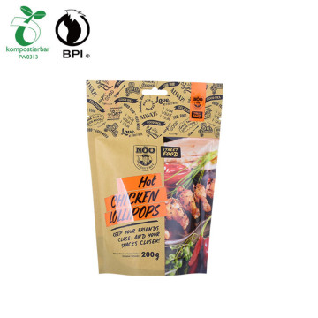 Reusable Ziplock Heat Seal Food Packaging Biodegradable Bags