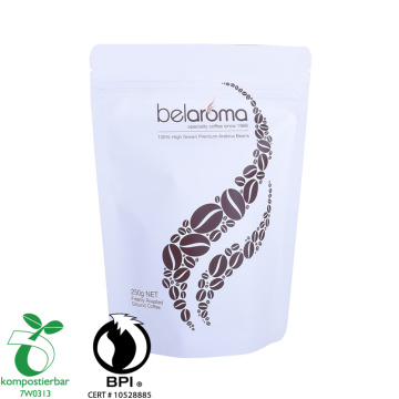 Bio paper coffee bean pack printed with valve