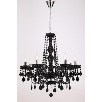 Modern European style Dining room Black Crystal Chandelier