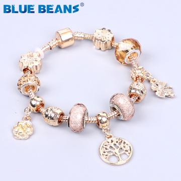 2020 Bracelets For Women Beads Bracelet Jewelry Charms Gold Bracelet Girls String Crystal Bracelet Stainless Steel Boho Punk