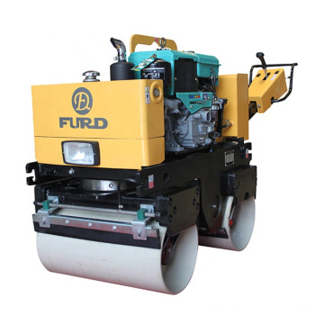 Walk behind mini double drum compactor road pedestrian vibratory roller FYL-800CS